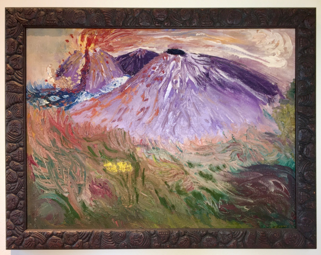 Tera Niedbalski Benjamin Tripp Treadaway's 3 volcano painting